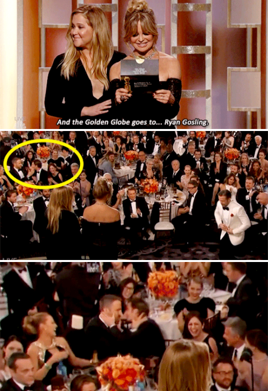 When Ryan Reynolds lost an award to Ryan Gosling, and Andrew made out with him to make him feel better.