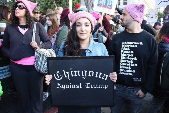 """Chingona against Trump"""