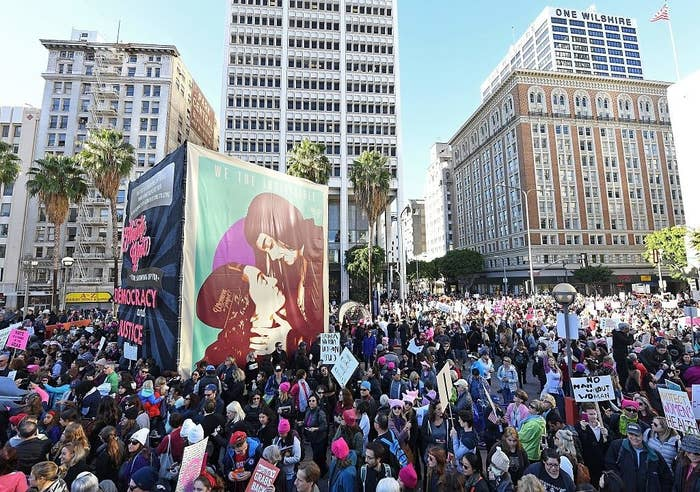 """According to the LA Times, there were an estimated 750,000 people in attendance, making it one of """"the largest marches in over a decade.""""Los Angeles also has one of the largest Latino communities in the country."""