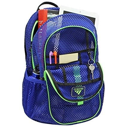 5b2a5c413e49 Organize your whole life in this mesh Adidas backpack.