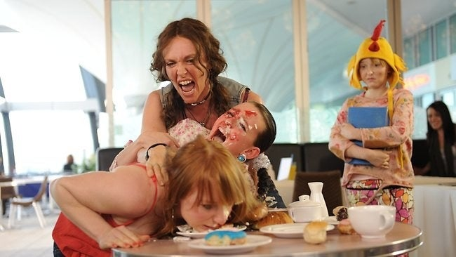 """Australian acting royalty Toni Collette stars as Sharon """"Shaz"""" Thornbender, a hitchhiker with an ocker accent who takes care of a ~wacky~ family. The fact Collette plays someone named Shaz should be enough to reel you in."""