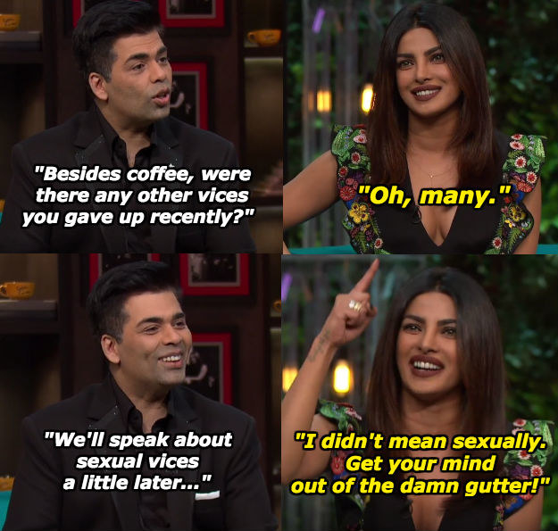When Priyanka reprimanded Karan Johar first thing.