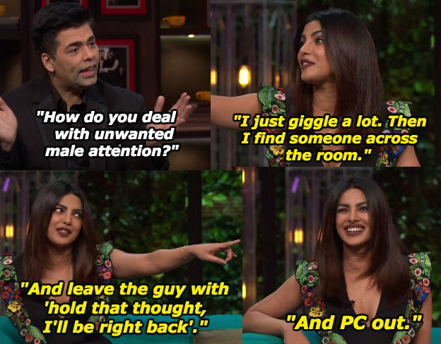 When Priyanka told Karan how she deals with men she isn't interested in.
