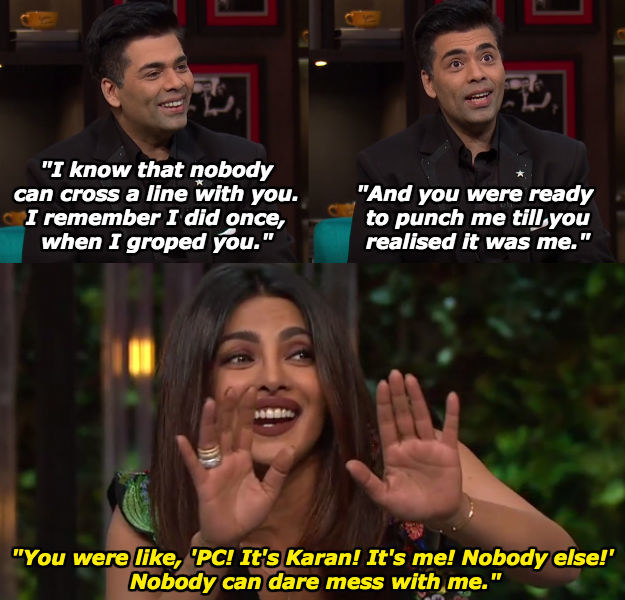 When Karan shared this anecdote about almost being clocked by Priyanka.
