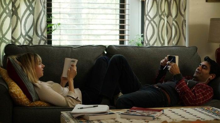 Emily (Zoe Kazan) and Kumail (Kumail Nanjiani) in The Big Sick