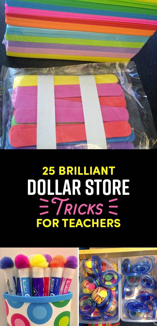 25 Dollar Store Teacher Tips You Prob Haven T Seen Yet