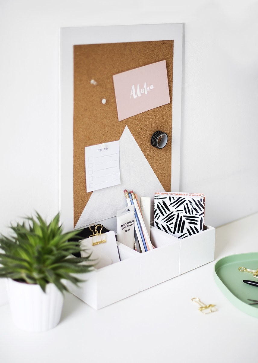 14. If You Love Organization But Hate Organizing, Then Build This Cork  Board Organizer To Keep Everything In One Place With Minimal Effort.