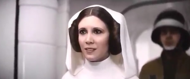 And duh, of course they obviously didn't show her earlier in the film 'cause they wanted to keep our favorite rebel's cameo a surprise!