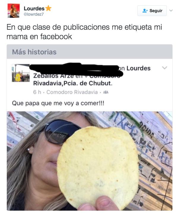 Esta mamá que le avisa a su hija (en público y con foto) lo que va a comer.