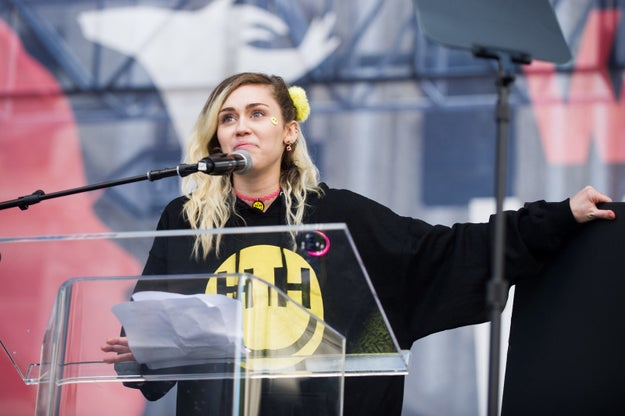 When it was Miley's turn to speak, she couldn't help but get emotional over the enormous turnout: