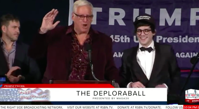 From left: Cernovich, Hoft, and Wintrich at last Thursday's DeploraBall