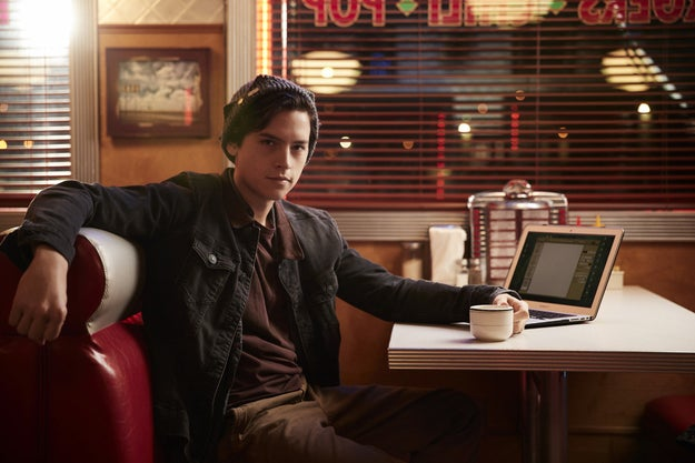 And Cole Sprouse plays Jughead, tortured writer, social misfit, and rocker of the casual indoor beanie.