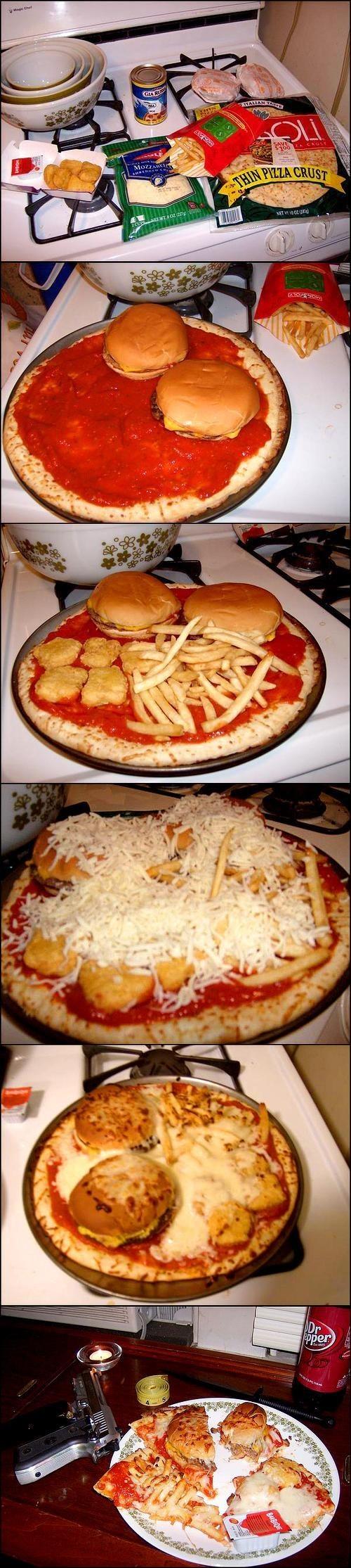Les pizzas-hamburgers. Pourquoi?