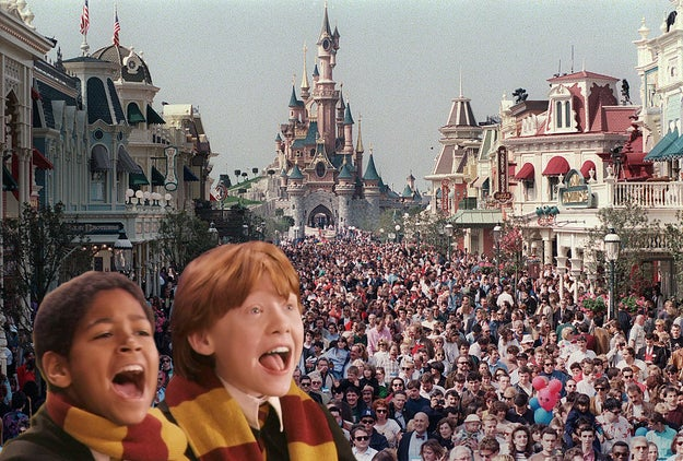 And in April 1992 – a couple of months before Harry defeated Voldemort for the second time – Muggles flocked to Paris to attend the opening of a brand-new Disney park.