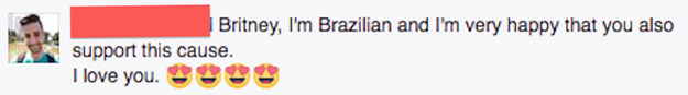 And because this is Facebook, the Brazillians showed up.