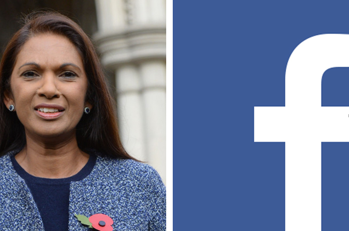 Photo of Gina Miller plus Facebook logo