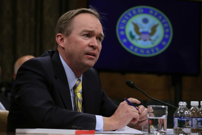 Rep. Mick Mulvaney testifies before the Senate Budget Committee on his nomination of to be director of the Office of Management and Budget.