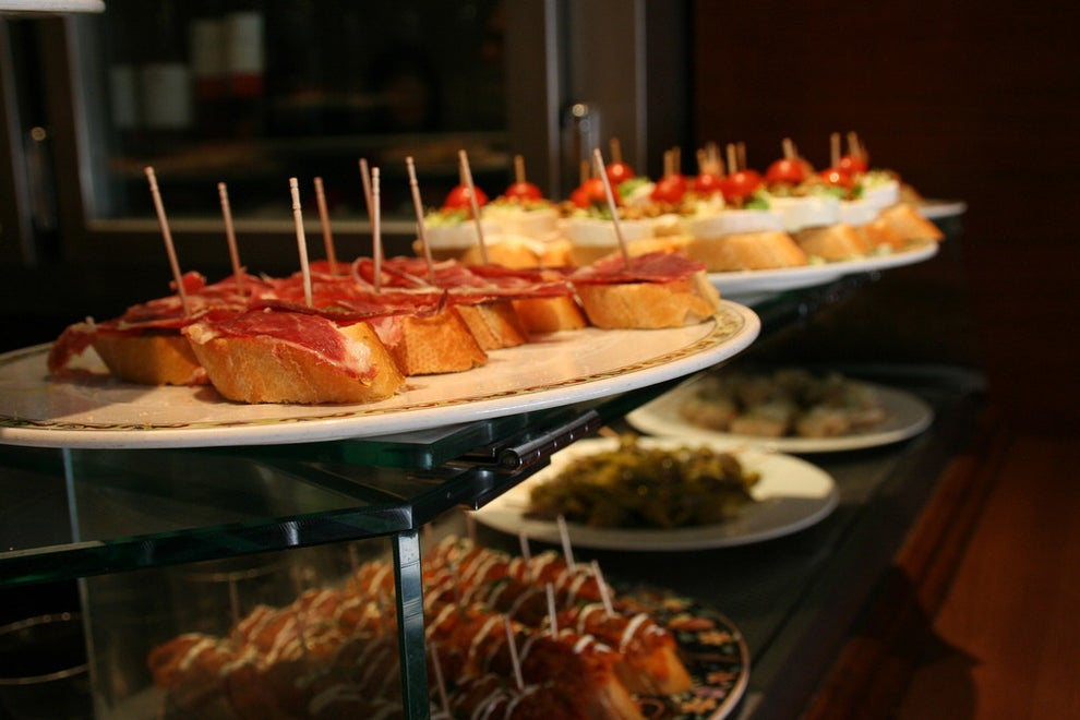 Tapas could constitute a snack or an entire meal...