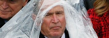 The Purest Meme Of The Inauguration Is George W. Bush With His Poncho