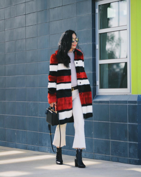Hallie mixes sculptural silhouettes and poppy colors for a look that's wonderfully whimsical. Check her out at @halliedaily on Instagram.