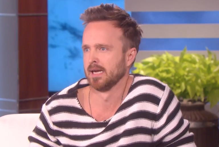 However, on Ellen today, IRL Jesse (Aaron Paul), made a VERY INTERESTING slip of the tongue.