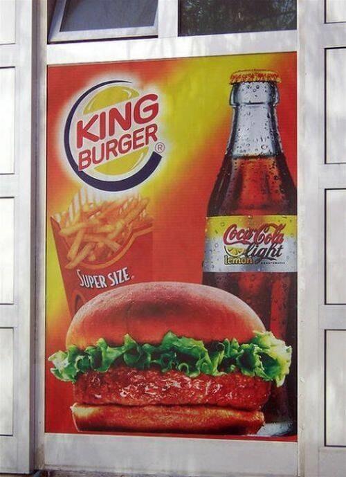 Este sitio en el que el king es el sabor y no al revés.
