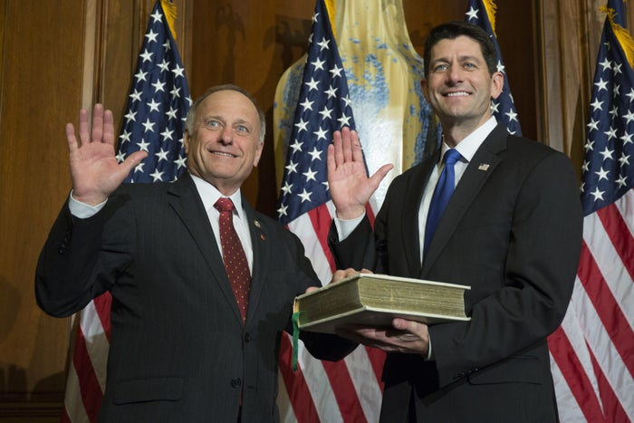 Paul Ryan swears in Rep. Steve King.