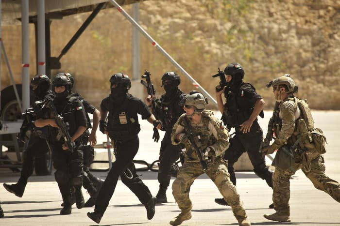 American troops conduct exercises with commandos from Jordan and Iraq.