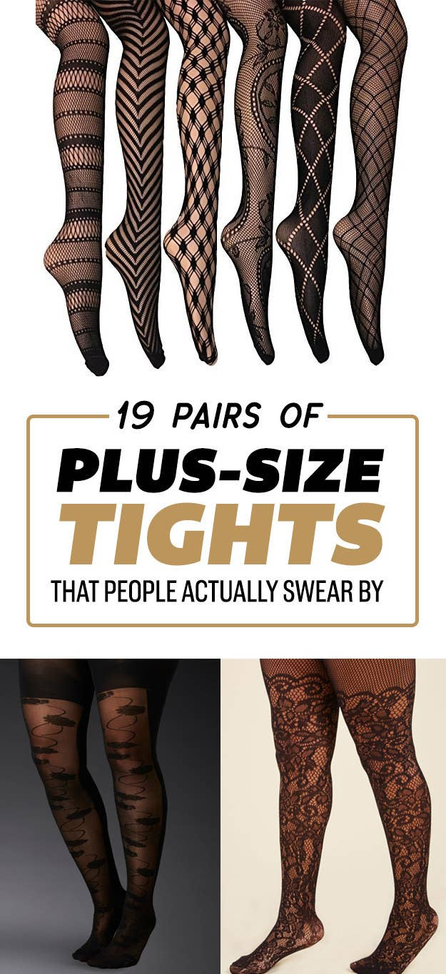 fdb656216407f 19 Pairs Of Plus-Size Tights That People Actually Swear By
