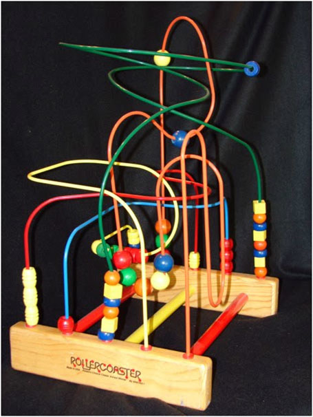 Or this toy that just seemed to materialize in doctor's offices: