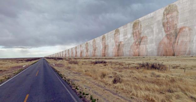¿Cómo se vería el muro?