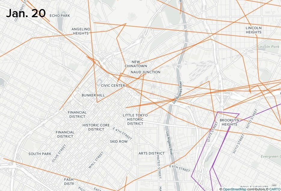 These Maps Show How The Feds And Cops Watched Trump's