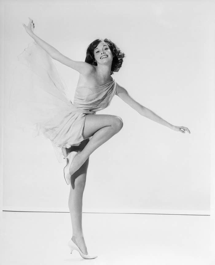 Mary Tyler Moore, who began her television career as a dancer in Hotpoint Appliances commercials, strikes a pose in this undated photo.