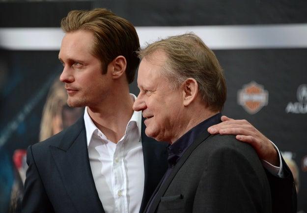 Alexander y Stellan Skarsgård.