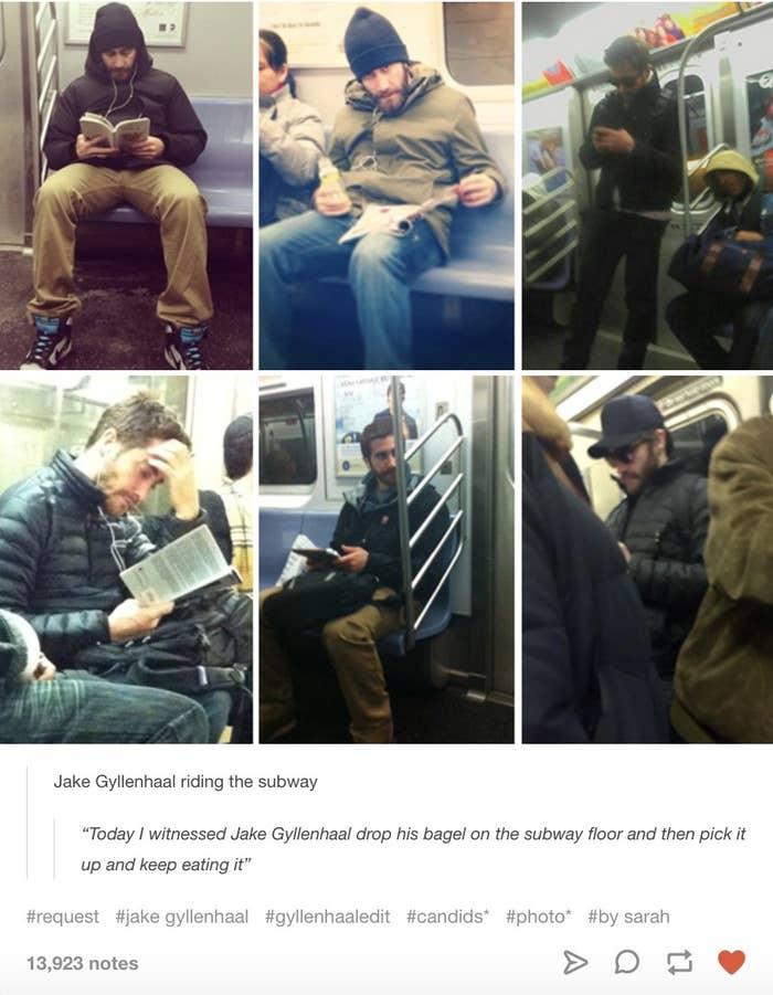 Image result for jake gyllenhaal subway