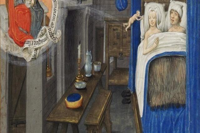 """Básicamente, como la Iglesia cortaba todo el bacalao en la Edad Media, decidieron prohibir todas las posturas y quedarse solo con """"la natural"""" (lo que ahora llamamos """"el misionero"""") que consistía en que el marido se tumbase sobre la mujer con la única intención de hacer muchos bebés."""