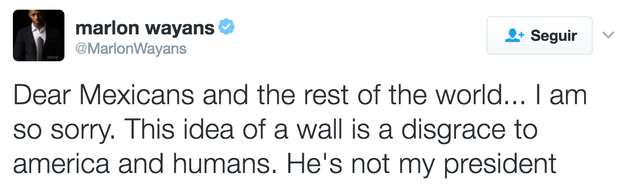 Actor Marlon Wayans says the idea of a wall is a disgrace to humanity.