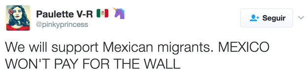 There is support everywhere, especially, to Mexican migrants.