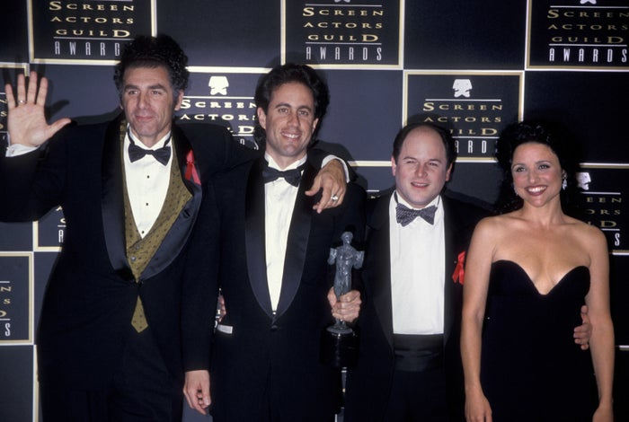 "Year: 1995Memorable quote: That year, Jerry Seinfeld opened the show. ""Yeah, I know it's hard to believe in a town with this much plastic surgery that you can even give out a 'sag' award. But, I always open with a joke."""
