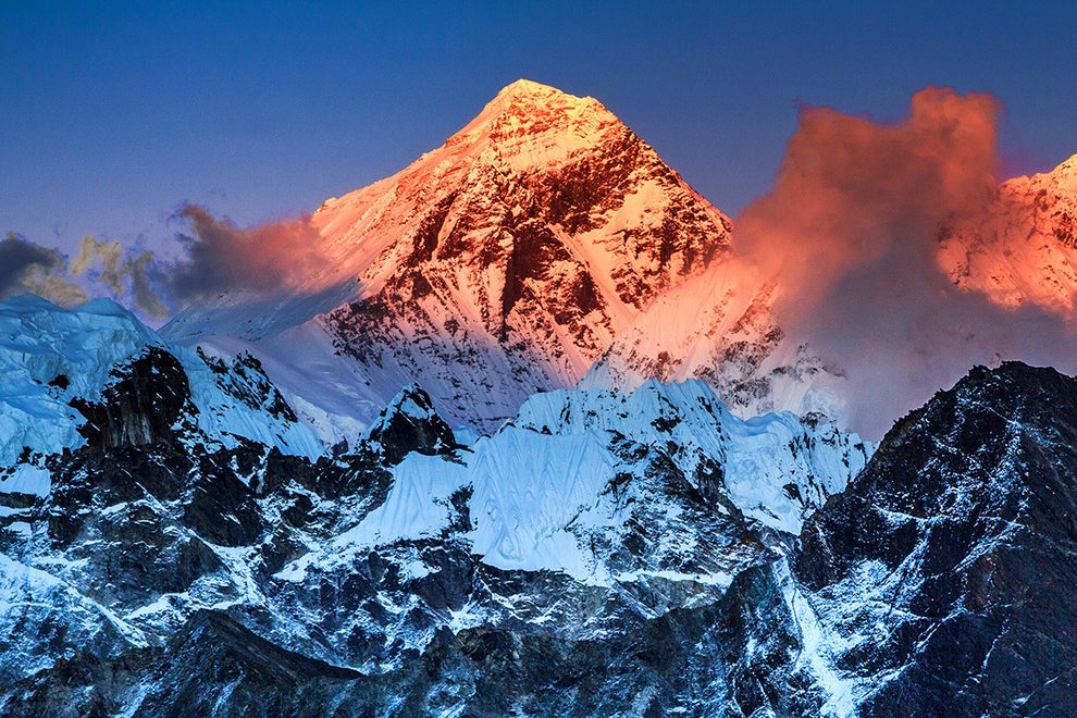 Mount Everest — between China and Nepal