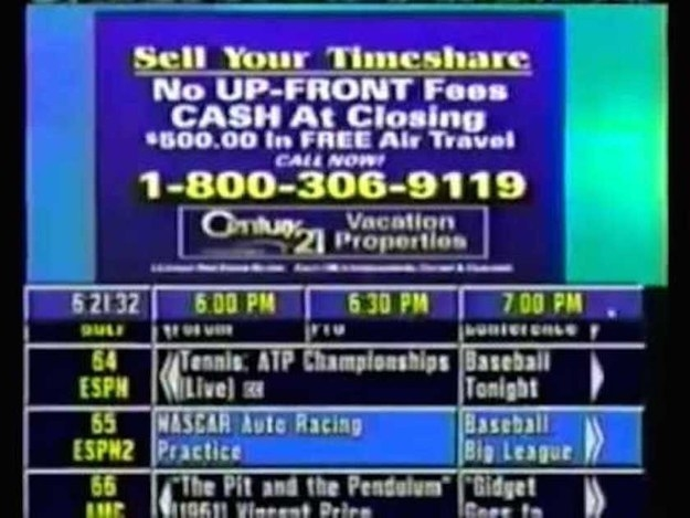 Watching the TV Guide Channel just to see what was on — which meant if something caught your eye you also had to remember the channel number it was on.