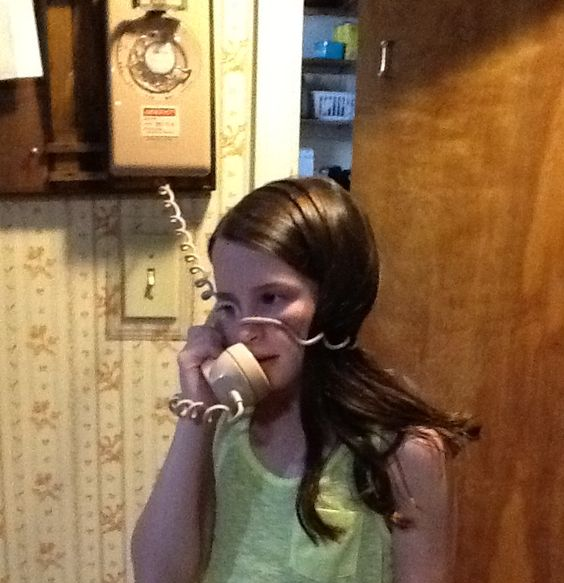 Answering the phone and literally having NO idea who was calling...