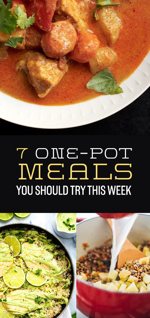 7 One-Pot Meals That Are Ridiculously Easy And Good