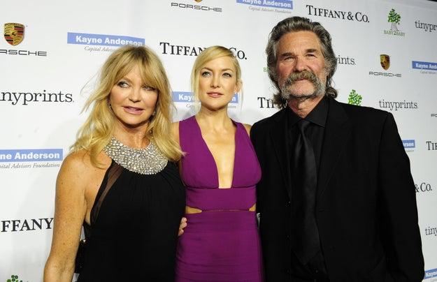Kate Hudson, Goldie Hawn y Kurt Russell.