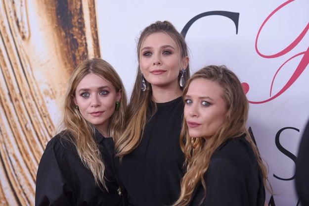 Elizabeth, Mary-Kate y Ashley Olsen.