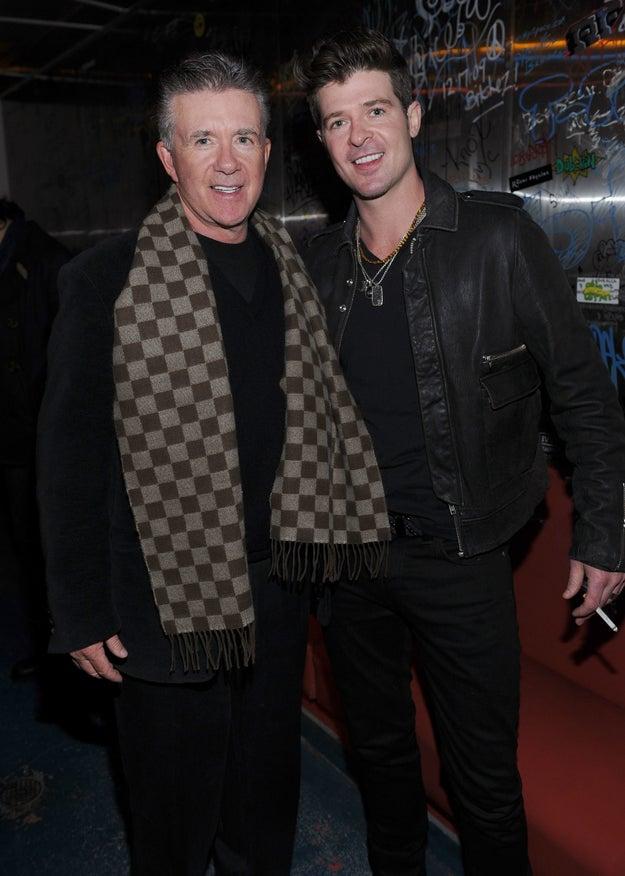 Robin y Alan Thicke.
