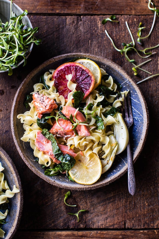 Slow-Roasted Citrus Salmon With Fennel and Parmesan