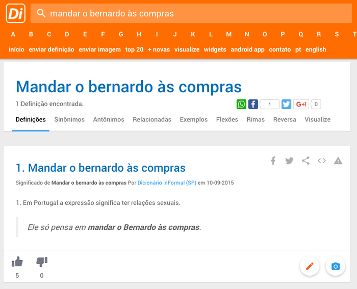 """""""Ele só pensa em mandar o Bernardo às compras""""."""