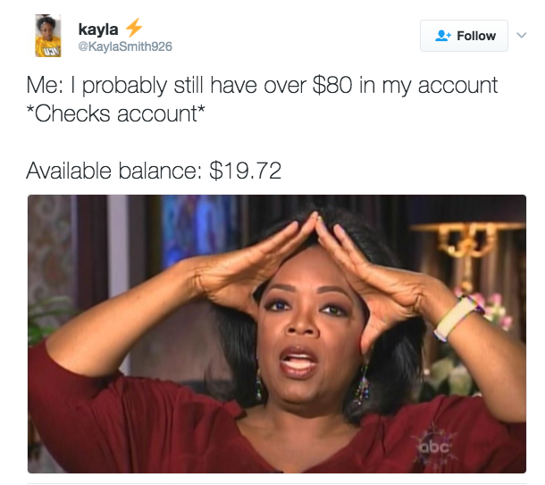 Everyone who has a bank account knows the feeling.