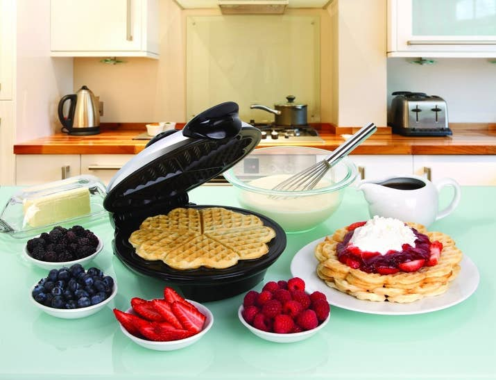 A Heart Shaped Waffle Iron For Whipping Up Romantic Brunch Spread